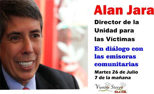Alan Jara en las emisoras comunitarias